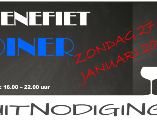 Benefiet diner 27 januari